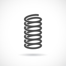 Flexible Spring Vector Icon