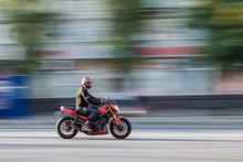 Bike Rider In Blur Motion
