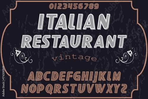 Photo Font. Alphabet. Script. Typeface. Label.