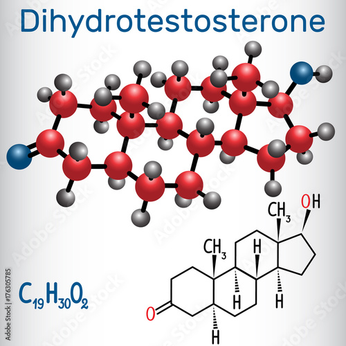 Dihydrotestosterone DHT (androstanolone, endogenous androgen sex hormone ) - str Canvas Print
