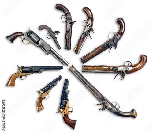 Antique Pistols Collection. Wallpaper Mural
