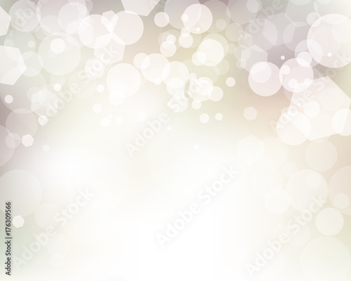 Soft Abstract Bokeh Lights Background Illustration