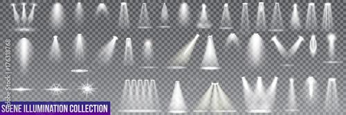 Photo  Big collection scene illumination on transparent background
