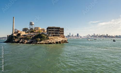 Obraz na dibondzie (fotoboard) Wyspa Alcatraz i Więzienie, San Francisco, Kalifornia, USA