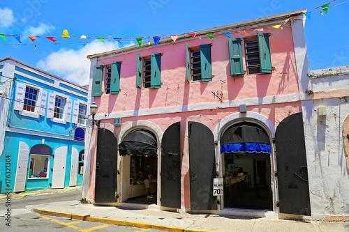 Fotografie, Obraz  Charlotte Amalie streets in historic town