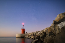 Seascape Of A Small Lighthouse...