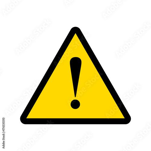 Obraz warning sign vector - fototapety do salonu