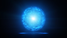 Blue Plasma Ball With Energy C...