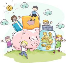 Stickman Kids Money Savings Ja...