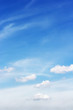 Soft white clouds against blue sky background, beautiful of nature.