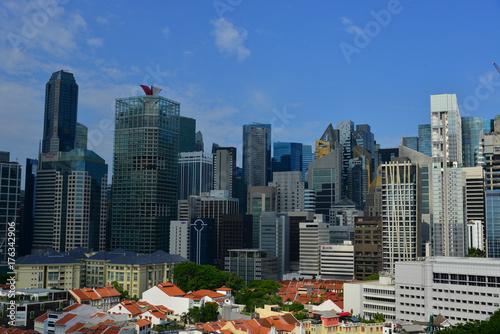 Foto op Aluminium New York Cityscape of Singapore