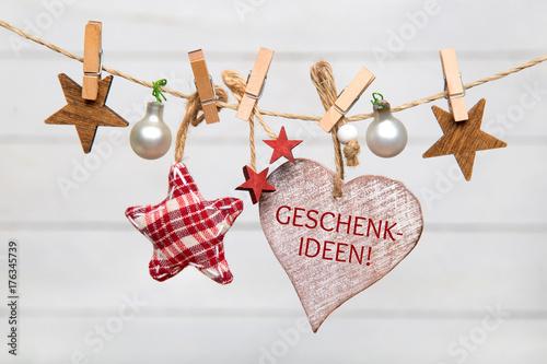 Geschenkeideen-Weihnachtlicher Hintergrund Fotobehang