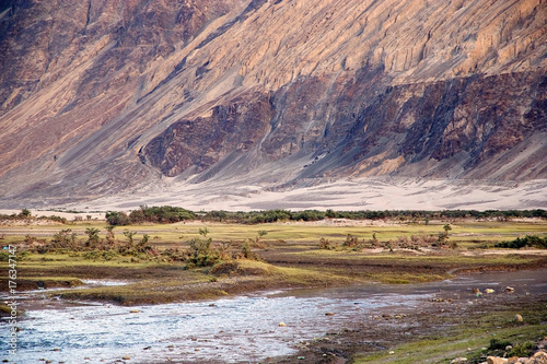 Foto op Canvas Zalm Landscape in Nubra Valley, Ladakh, India