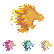 Head Of Lion Is A Logo Templat...