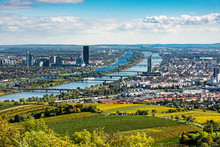 Wien Panorama Im Herbst