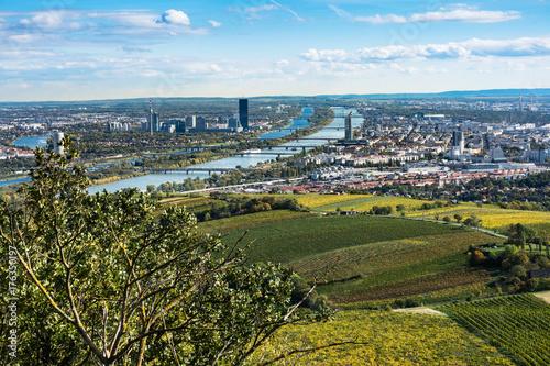 Obraz na dibondzie (fotoboard) Wiedeń panorama jesienią