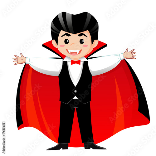 Fotografie, Obraz  Count Dracula. Vampire. Boy in halloween costume