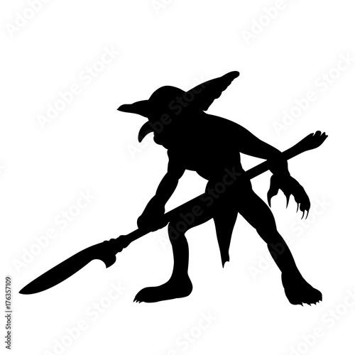 Goblin silhouette monster villain fantasy Wallpaper Mural