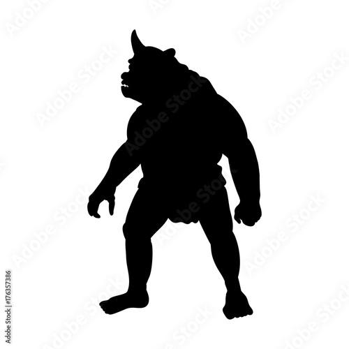 Photo Cyclops silhouette monster villain fantasy