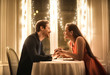 canvas print picture - Sweet couple having a romantic dinner