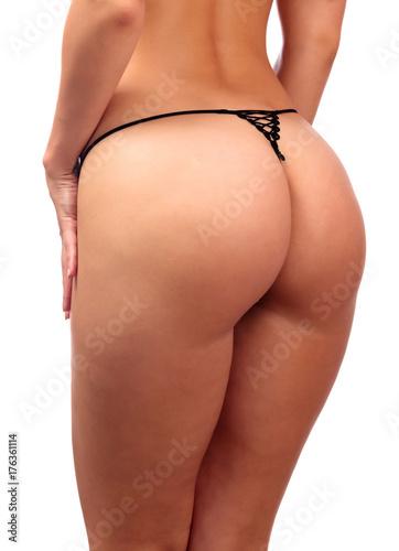 Poster Ezel Perfect female bum, isolated on white background