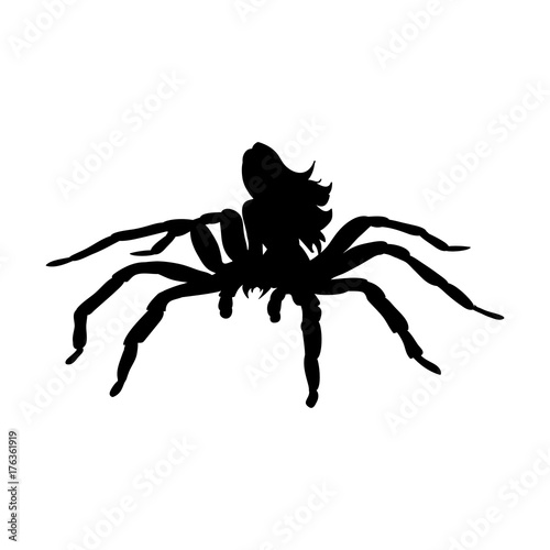 Photo Arachne spider monster woman silhouette ancient mythology fantas