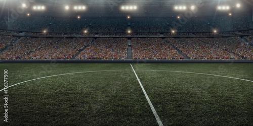 Obraz na plátně  Professional soccer arena in 3D
