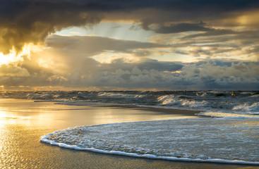 Panel Szklany PodświetlaneZachód słońca nad Bałtykiem