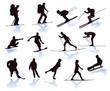 Wintersport, skifahrer, snowboarder, skilanglauf