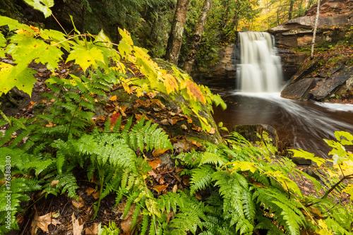 Vászonkép Hungarian Falls in the Keweenaw Peninsula of Michigan