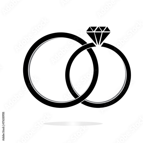 Wedding Ring Marriage Symbol Wedding Icon Diamond Wedding