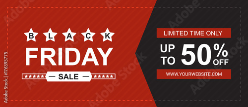 Fotografia  Black friday sale banner vector.