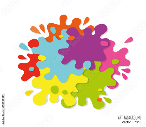 Finding Some Spots Of Bright Color At >> Abstract Art Background Made Of Paint Spots And Splashes Bright