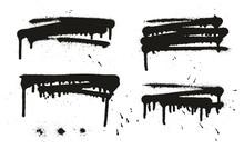 Spray Paint Abstract Vector Ba...