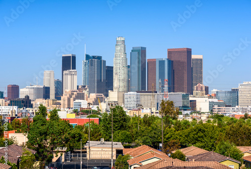 Staande foto Los Angeles Los Angeles, California, USA downtown cityscape at sunny day