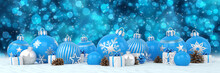Many Blue And Silver Christmas...