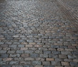Paved road in small street of Lyon