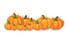 Halloween Vector Orange Pumpki...