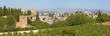 Granada - The panorama of Alhambra and the town from Generalife gardens.