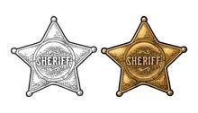 Sheriff Star. Vintage Black An...