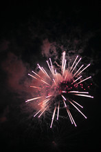 Pink Fireworks In The Sky Duri...