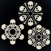Skulls And Bones Jolly Snowlakes