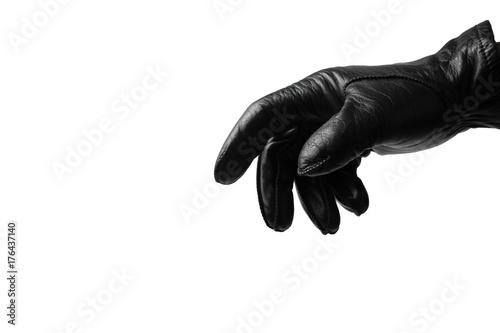 Obraz na plátně  Black glove on white background