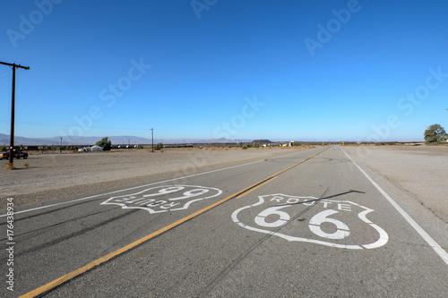 Foto op Canvas Route 66 Entlang der Route 66, Amboy, Mojave-Wüste,, San Bernardino County, CA