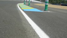 Closeup Of Asphalt Highway Wit...