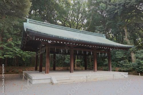 Obraz na dibondzie (fotoboard) Świątynia Meiji znajduje się w Shibuya w Tokio