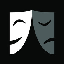 Theatrical Masks Graphic Icon....