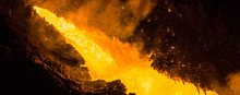 Tapping The Blast Furnace - Liquid Iron