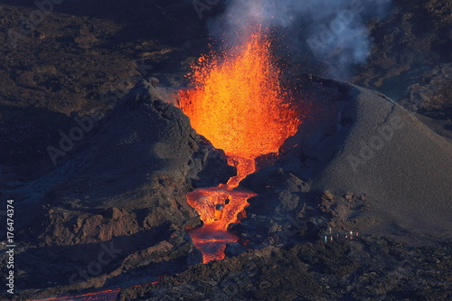 Staande foto Vulkaan volcan ile reunion