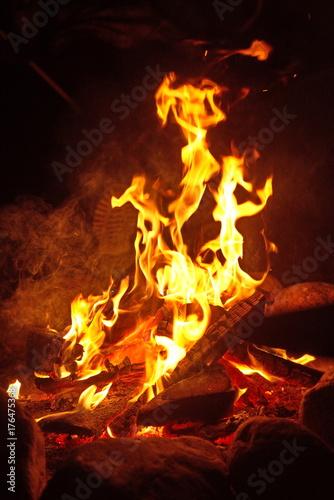 Wall Murals Flame fire